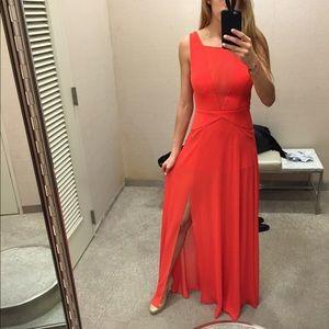 Blood Orange Semi-Sheer Gown